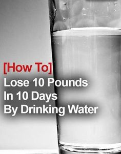 Try to lose weight by drinking water