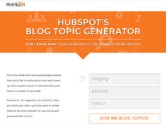 Blog Topic Generatio