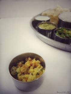 CABBAGE AND GREEN GRAM DHAL KOOTU :      A perfect combination of Veggie and Dhal.  This South Indian Kootu is cooked with Moong Dhal and Cabbage, and seasoned with mild spices.  A wonderful side dish for Rice and Chappathis.