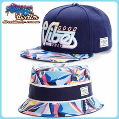 Cayler and Sons good vibes snapback and Bucket hat. www.streetdweller.com.au