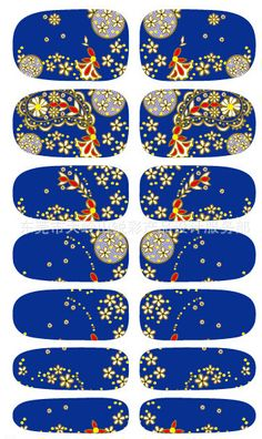 New Arrive Minx Blue Flowers Design Nail Sticker Nail Art Decorations Water Transfer Decals Manicure Styling Tools Wholesale Nails Foil, Foil Nail Art, 3d Nails, Cheap Stickers, Nail Art Stickers, Transfer Foil, Water Transfer, Manicure, Phoenix Design