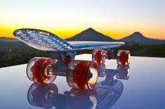 Sunset Skateboards with LED wheels | coolest birthday gifts for tweens