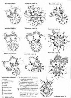 hu - Her Crochet Crochet Snowflake Pattern, Crochet Stars, Crochet Motifs, Crochet Snowflakes, Crochet Diagram, Crochet Doilies, Crochet Stitches, Crochet Patterns, Crochet Christmas Ornaments