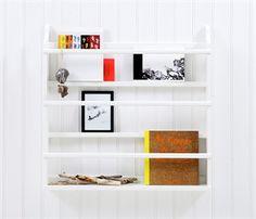 Tallerkenrække, hvid - Oliver Furniture