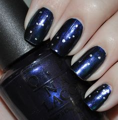 Constellation nail art  I think we could make this happen!