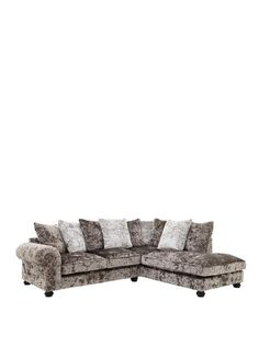 Laurence Llewelyn-Bowen Scarpa Right-Hand Fabric Corner Chaise Sofa | very.co.uk