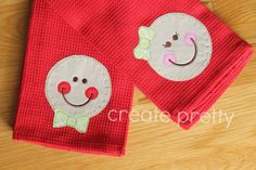 Gingerbread Boy and Girl Matching Kitchen Towel by CreatePretty