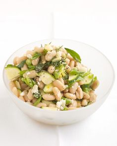 White bean salad with zucchini & parmesan. Always looking for a way to use the abundance of zucchini I'm expecting!!