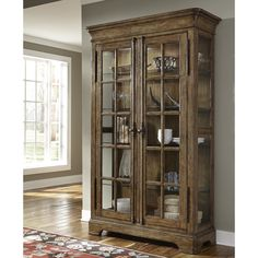 Give yourself an elegant, safe space to keep all your dining finery with the SLF American Attitude Door China Cabinet . This tall cabinet has a detailed. Pulaski Furniture, Cabinet Furniture, Crockery Cabinet, Rustic China Cabinet, China Storage, Storage Cabinets, Corner Cabinets, Display Cabinets, Interior Design Living Room