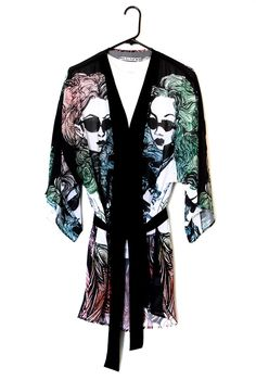 """Witchy Fashion Twins"" Unisex Poly Chiffon Kimono #lol #funny #RT #fun #comedy #wtf"