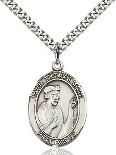 St. Thomas More Pendant (Sterling Silver) by Bliss | Catholic Shopping .com