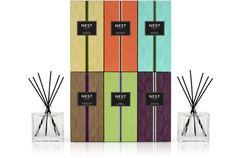 Reed Diffusers (like these) are a summer fragrance fave (candles get soft) TIP: if yours evaporates too fast in the heat, add a bit of vodka to top it off!