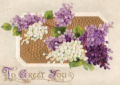 Pretty Antique Lilac BB London Postcard Early 1900s.  via Etsy.