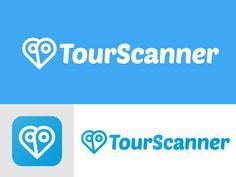 TourScanner logo designed by Jakub Jezovic. Connect with them on Dribbble; Logo Design, Logos, Logo