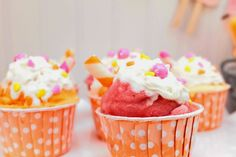 Sherbet cupcakes by Cupcake Wishes & Birthday Dreams   www.cwbdparties.com