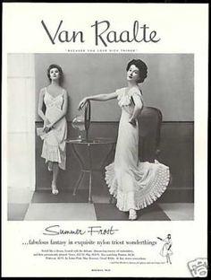 Van Raalte Vintage slip ad