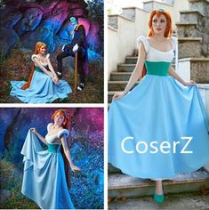 Coserz offers affordable handmade custom princess dresses, cosplay costume, cosplay wig, accessories and more. Take custom requests for any cosplay design. Disney Cosplay, Disney Costumes, Halloween Costumes, Disney Halloween, Disney Princess Cosplay, Movie Costumes, Cosplay Outfits, Cosplay Wigs, Cosplay Costumes