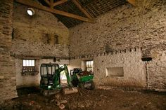 It's now October and the old first floor timber has finally gone and work starts on levelling the ground floor in The Byre and The Haystore.