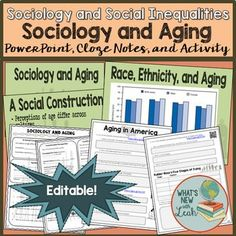 Sociology and Aging PowerPoint, Cloze Notes, and Activity Sociology Courses, Sociology Class, High School Curriculum, High School Activities, Sociological Imagination, Social Studies Classroom, Secondary Teacher, Middle School Ela, School Subjects