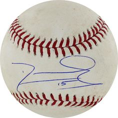 The Chicago Cubs second baseman Darwin Barney has hand signed this actual game used second base. The baseball is from the April 25, 2011 gam...