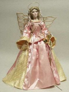 Franklin Mint, Miscellaneous Doll at Replacements, Ltd Ghost Of Christmas Past, Christmas Tree Tops, Angel Christmas Tree Topper, Purple Christmas, Christmas Angels, Xmas Tree, Christmas Fun, Victorian Angels, Victorian Christmas