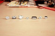 shrink plastic earrings by Günseli S., via Flickr