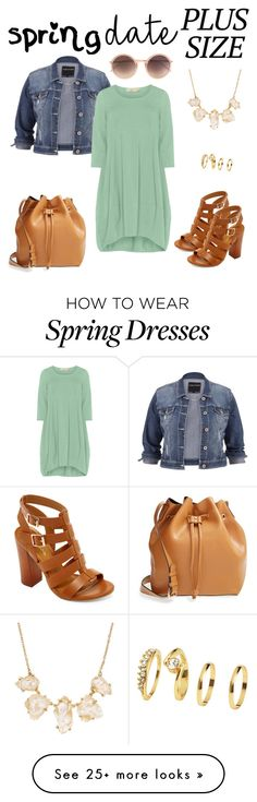 """""""Spring Date: Pretty Plus-Size Style"""" by dazzlious on Polyvore featuring maurices, Sole Society, Isolde Roth, Bamboo, H&M and Linda Farrow"""