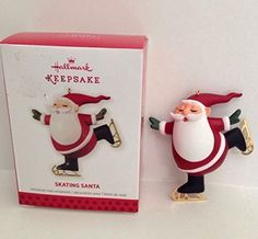 Limited Edition 2013 Hallmark Keepsake Skating Sants Christmas Tree Ornament * See this great product. This is an affiliate link.