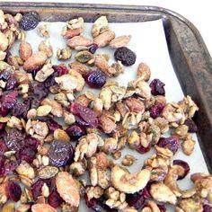 High Protein Fall Trail Mix - pumpkin spice flavor, healthy, homemade