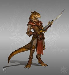 Some commission work! This is some (main) character exploration done for the inimitable Shane Press for his upcoming Fantasy book series 'Pathkeeper'. It has lizardmen in it and sounds awesome... w...
