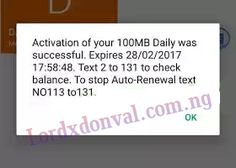 """How To Get Free Mtn 100mb And More For 2017   After some hours of Mtn free 1GB and 500Mb awoof here is the latest from Mtn.  Without wasting much of your time  How To Get Free 100MB And Above On MTN Network  Make sure you have 0.00kobo on your account balance or any amount less than 100naira.  Then dial 113# - Dial it up to 30times to get more data.  Then you will receive an on-screen message saying  """"Activation of your daily 100MB was successful.""""  As shown below.  So you have successfully…"""