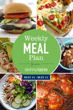 Skinnytaste Meal Plan (May A free flexible meal plan including breakfast, lunch and dinner and a shopping list. All recipes include calories and Weight Watchers Freestyle Smart Points. Plats Weight Watchers, Weight Watchers Meal Plans, Smart Points, Diet Recipes, Healthy Recipes, Skinny Recipes, Lunch Recipes, Clean Eating, Healthy Eating