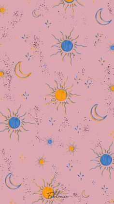 #wallpapers #wallpaper #background #pattern #print #iPhone #android #smartphone #fablouise #freebie #freebies #summer #illustration #cute #art #paint #creative #sun #star #moon #stars #galaxy #instagram