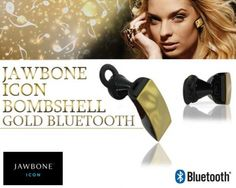 This daily deal for the Jawbone Icon Series Bombshell Bluetooth Headset (Gold) is the cheapest in online shopping in India. Bhaap.com only sells 100% genuine products and delivers free all over India. This product has the following specifications:  Brand: Jawbone Model: Icon Series Bombshell Bluetooth Headset Colour: Gold Bluetooth V2.1 Compliant