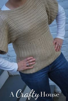 tangled happy: Dolman Sleeve Crochet Sweater