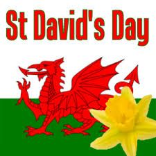 st davids day - Welsh flag and daffodil