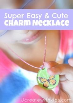 I'm thrilled that Plaid just came out with… Mod Podge WASH OUT for Kids! Heck yes, that is the coolest thing ever. So my kids and I began to create these… Super Easy Charm Necklaces Supply List Mod Podge Wash Out for Kids! Mod Podge Crafts, Fun Crafts, Sewing Crafts, Necklace Tutorial, Diy Necklace, Charm Necklaces, Girl Scout Activities, Craft Projects For Kids, Craft Ideas