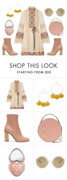 """""""Boho Babe"""" by houseofalice ❤ liked on Polyvore featuring Tory Burch, Chan Luu, Valentino, Eddie Borgo, Too Faced Cosmetics and Dolce&Gabbana"""