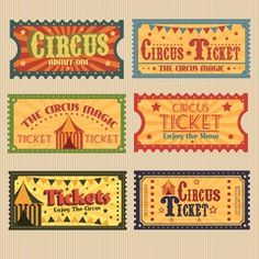 ˗ˏˋSheWasHoneyˎˊ˗ would you kindly ྂ Retro circus tickets pack Circus Theme Party, Circus Birthday, Party Themes, Cirque Vintage, Circus Aesthetic, Circo Do Mickey, Circus Tickets, Retro, Ticket Design