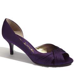 purple criss-cross front d'orsay pump