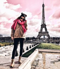My last Instagram of 2017 and seeing off the year in style - a fake pink sky another new coat and an increasingly deep love for Paris  Goodbye 2017 - you've been a blast Thank you to every single one of you for following along this year - can't wait for the new year - new content new destinations and a totally new attitude and gumption towards everything BRING ON 2018 - got a feeling it will be the best yet