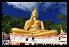 Golden Buddha on Wat Khao Rang: http://phuket101.net/2011/04/kao-rang-temple-and-sitting-buddha.html