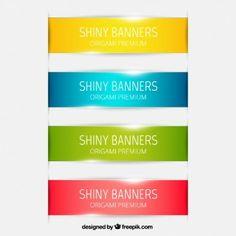 Colección de banners brillantes