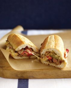 Steak Sandwich with Peppers & Jack Cheese