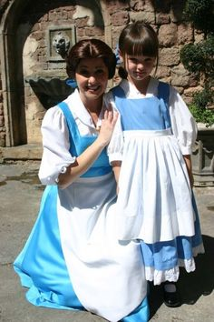 Big Belle...Little Belle.Little Girls With Disney Princesses
