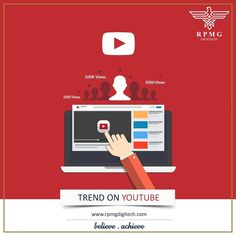 Make your video trend on YouTube! Connect with us today!  Email ID: info@rpmgdigitech.com Phone: 9136009669 Website:www.rpmgdigitech.com  #digitalmarketing#rpmgdigitech#socialmedia