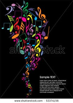 53374156: musical theme background with sample text,vector Illustration