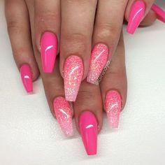 """Nya färgen """"Lollipop"""" med rosa glitterombre"""