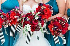 Kate Spade Inspired Bouquet // A Tribute: Kate Spade Inspired Wedding Inspiration via TheELD.com
