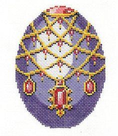Lee Jeweled Purple Egg Handpainted Needlepoint Canvas | eBay $33